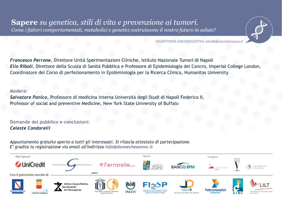 genetica e tumori relatori